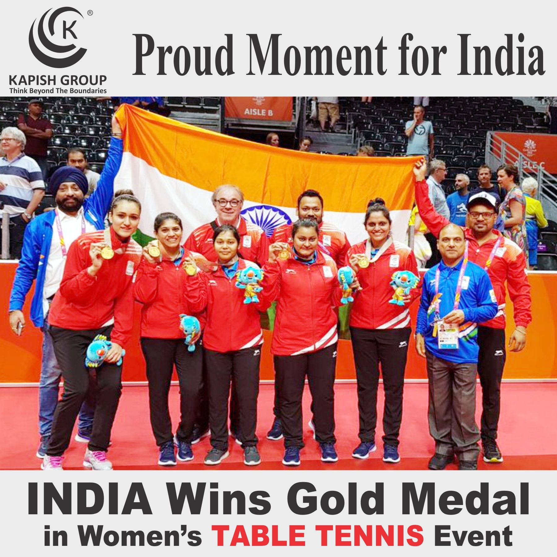 Golden Girls India Beat Singapore 3 1 To Win Gold In Table Tennis Team Event Gc2018 Gc2018tabletennis Commonwe Tennis Event Team Events Tennis Team