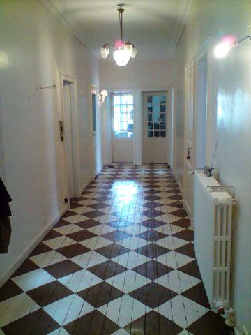 Benoit Desclos - peinture déco parquet peint Floors They\u0027ve got - Peindre Du Carrelage De Sol