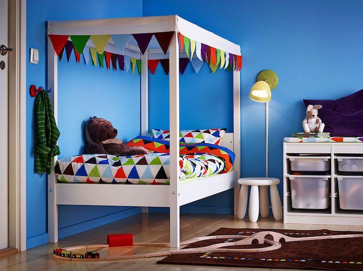 Idées Chambre Enfant IKEA Union De Meubles Pratiques Et Déco - Lit baldaquin ikea prix