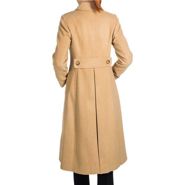 Jonathan Michael Camel Hair Coat - Back Pleat, Half Belt Back (For Women)