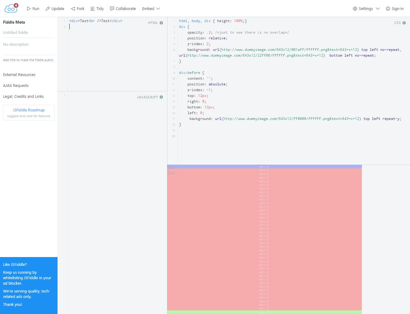 Edit fiddle - JSFiddle   CSS & jQuery   Diagram, Coding, Chart