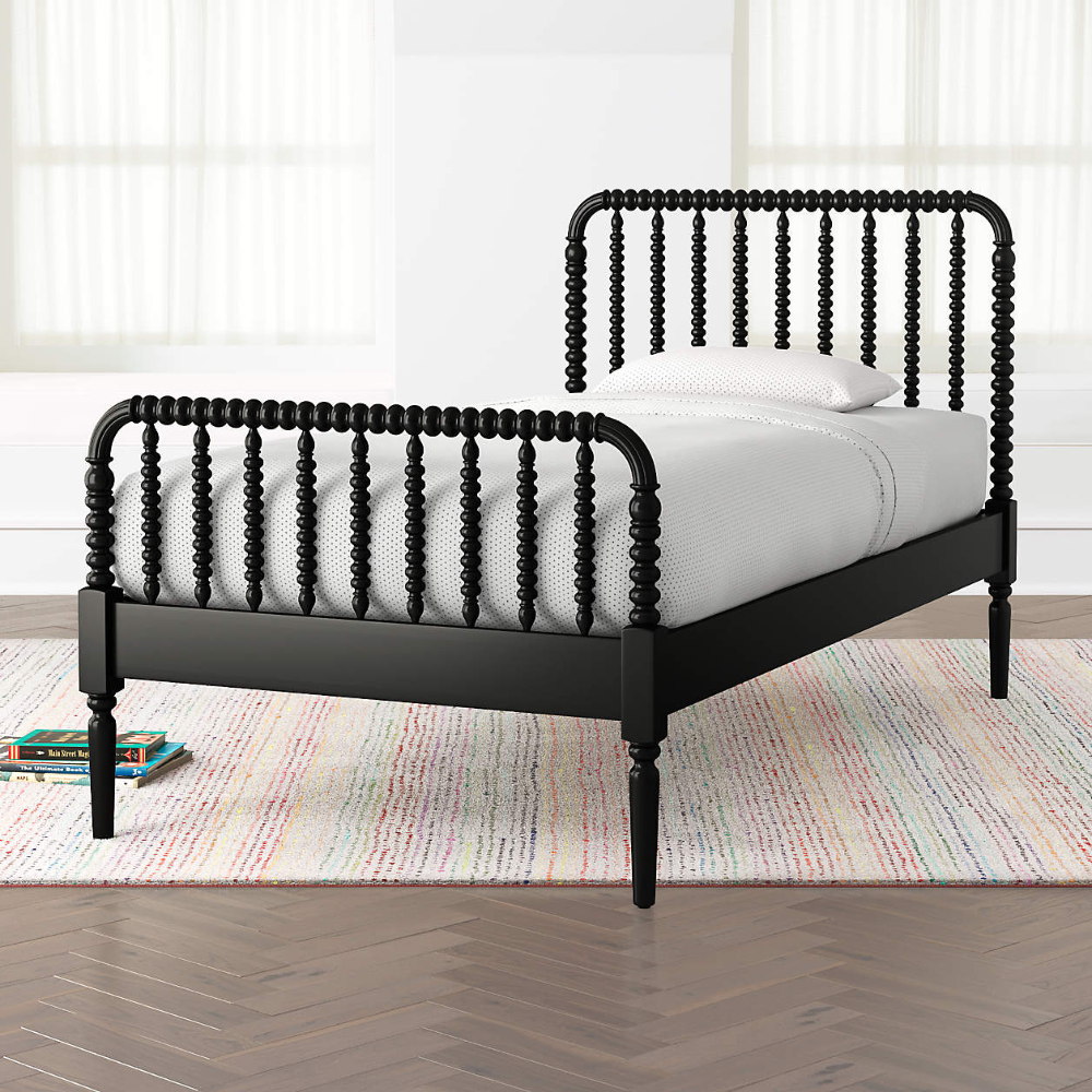 Jenny Lind Black Twin Bed