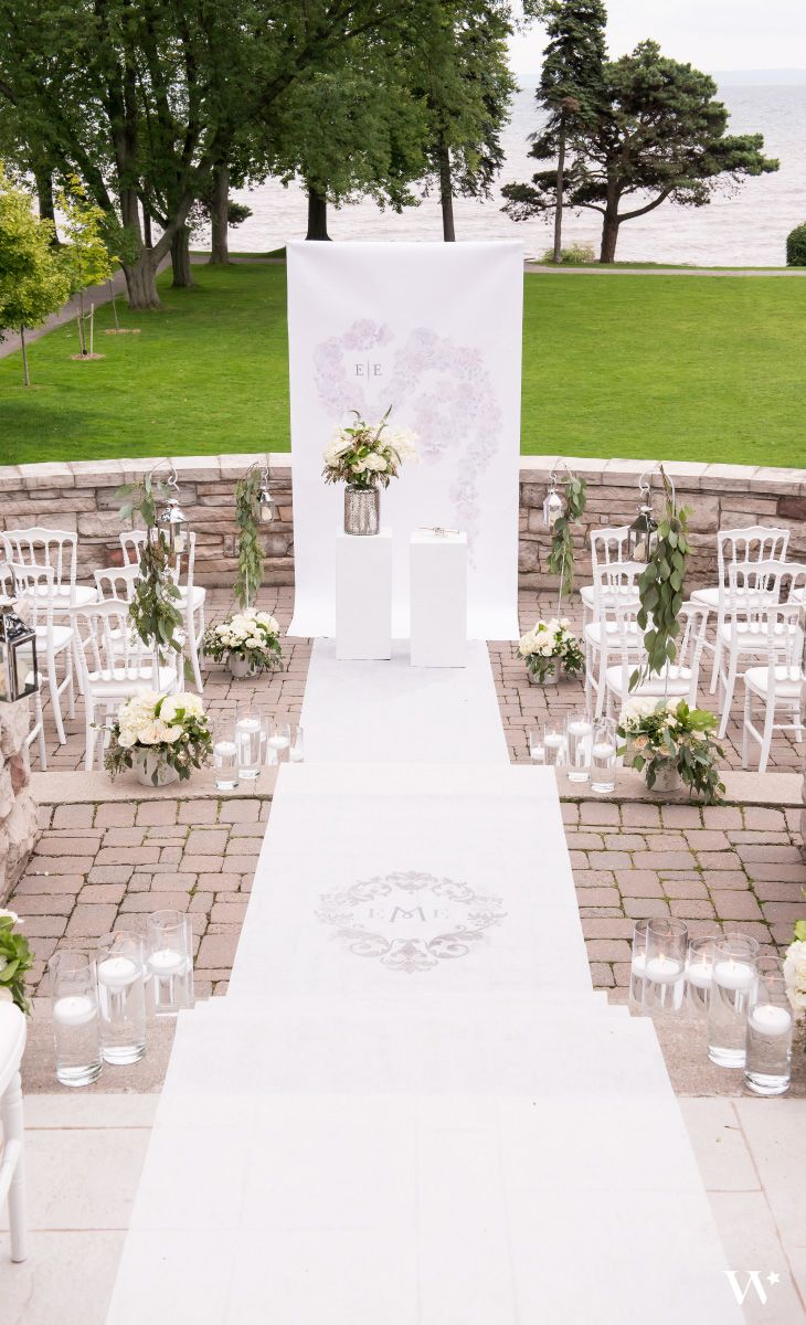 Beautiful wedding ceremony set up for a classic wedding theme ...