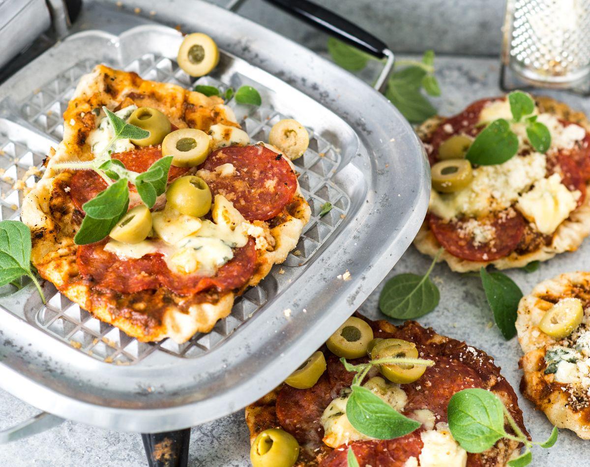Rakastatko rapeaa pizzapohjaa? Tee vohvelipizza