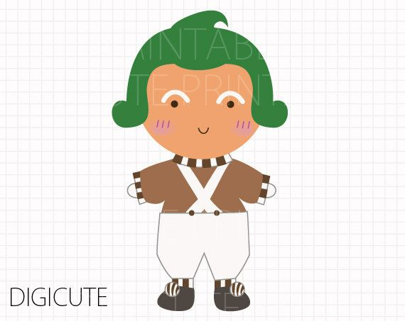 oompa loompa from willy wonka and the chocolate factory kids clip rh pinterest nz willy wonka golden ticket clip art willy wonka golden ticket clip art