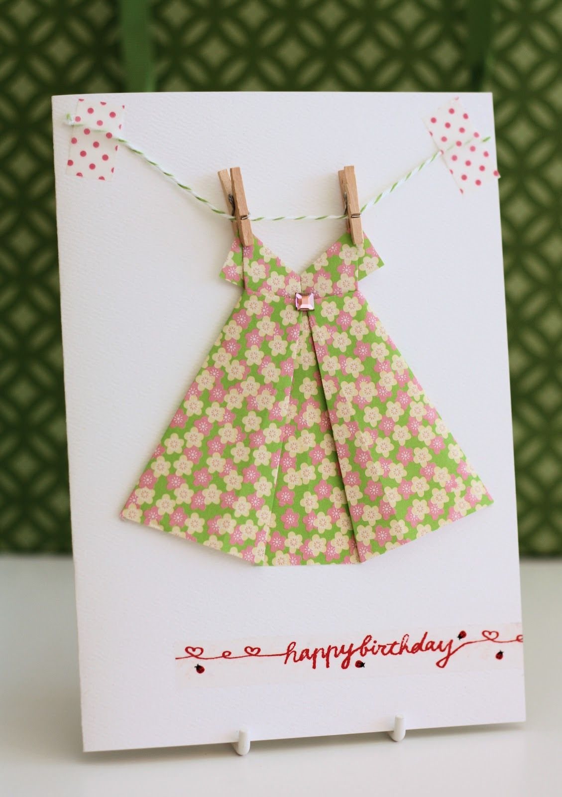 Origami Dress Card video on making paper dressyoutube – How to Make Origami Birthday Cards