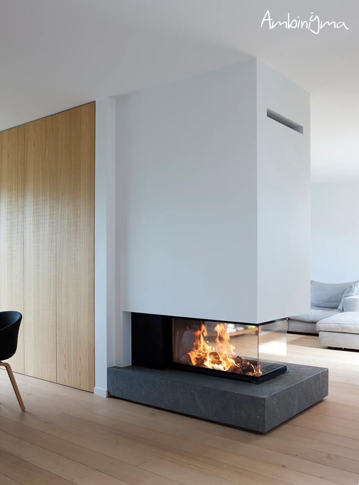 Recuperador m design diamon 1000 rd trifacial fire place - Estufas contemporaneas ...