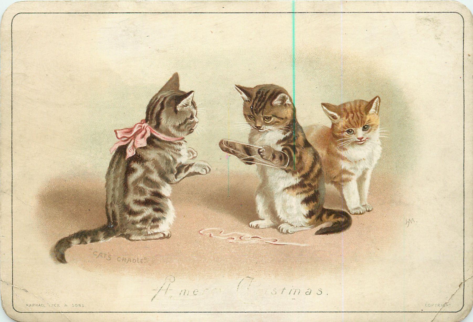 Старинные открытки животные