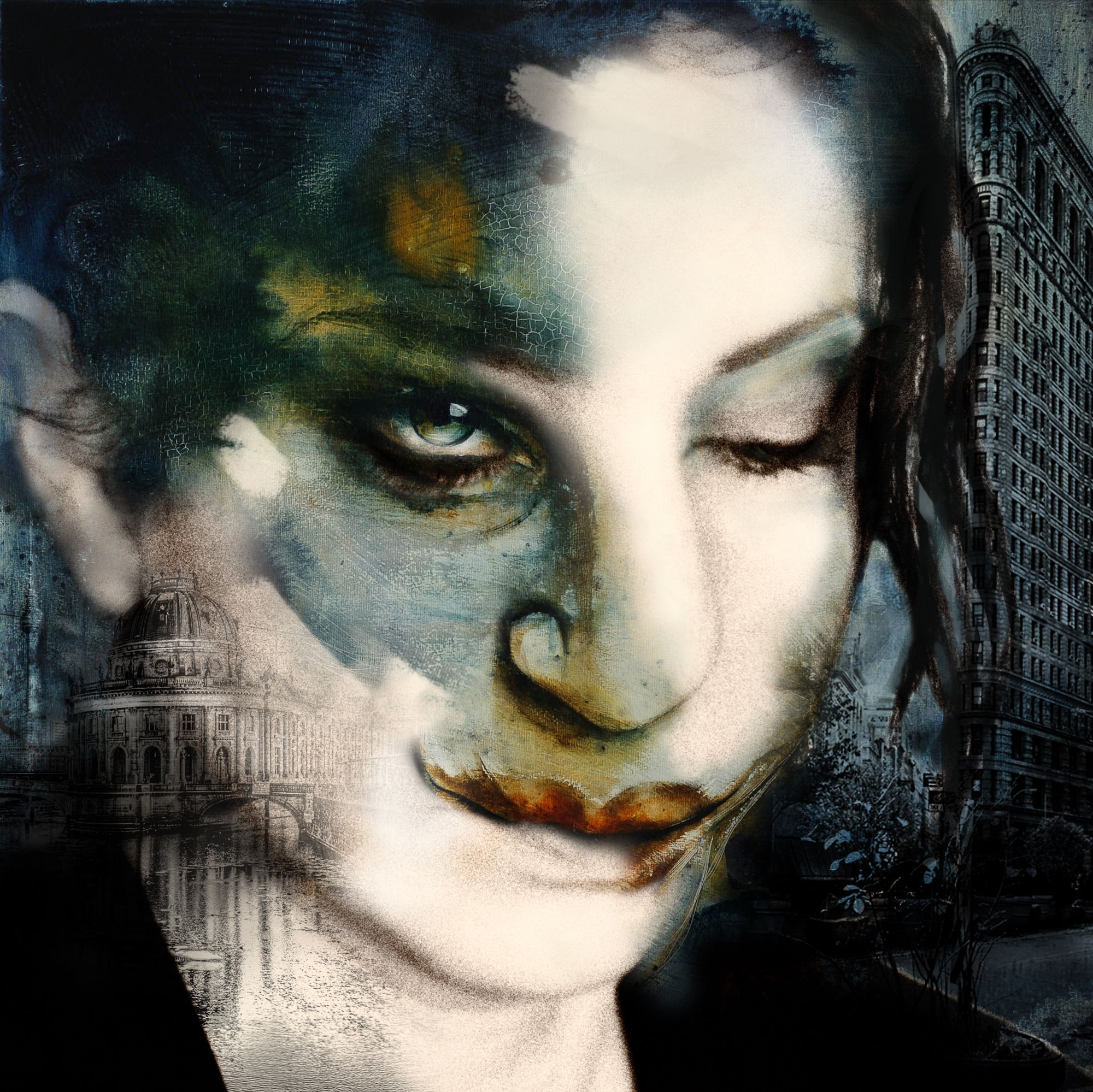 Morphing von Romy Campe, Sirena in me, 2015, Gemälde und fine art photography auf Metall