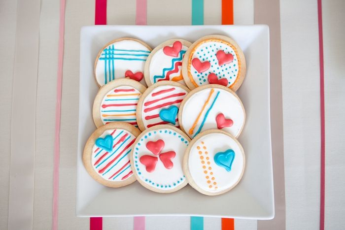Colorful Floral Guest Dessert Feature Sugar Cookies Cookie