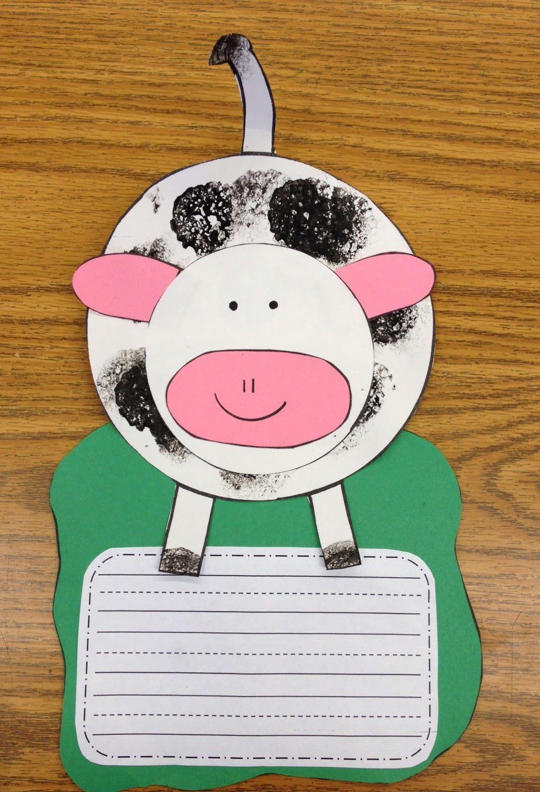 Apples And Abc S Freebielicious Cow Craft Farm Animal Crafts Farm Preschool [ 1600 x 1090 Pixel ]