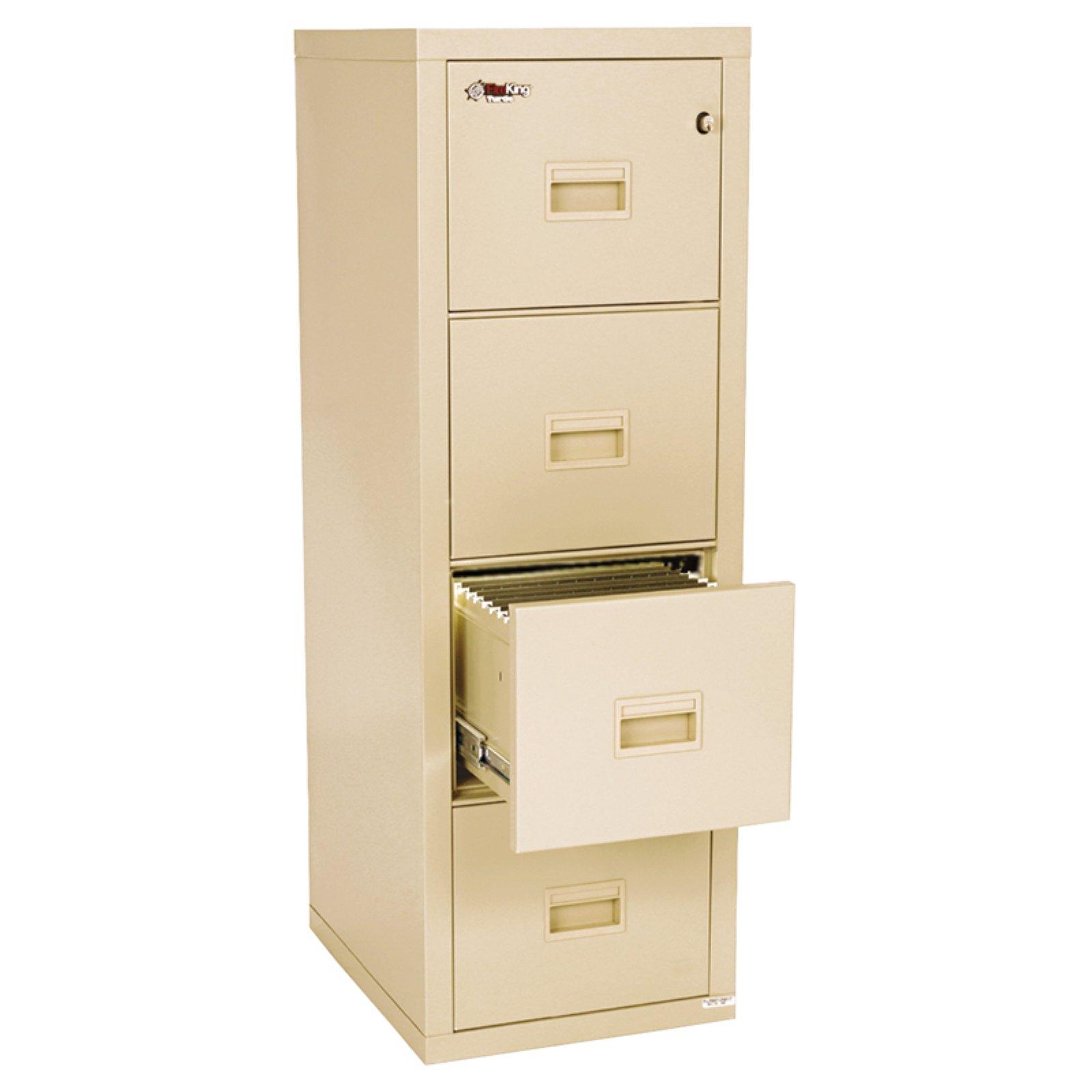 Fireking Compact Turtle 4 Drawer Vertical File Cabinet Filing