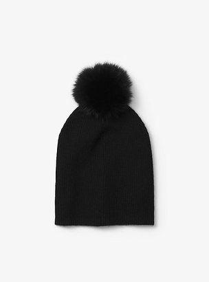 3f59b9b65 Michael Kors Cashmere And Fur Pom-Pom Beanie #hat #womens   Hats in ...