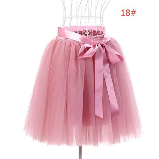 678896eefa02d Skirts Womens 7 Layers 50 cm Midi Tulle Skirt American Apparel Tutu Skirts  Women Ball Gown Party Petticoat 2017 faldas saia jupe