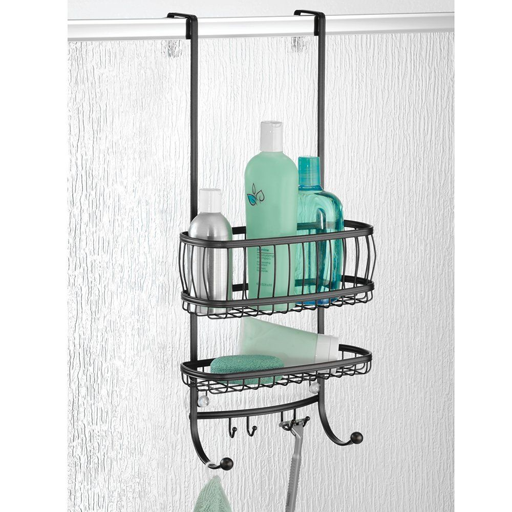 Mdesign Over The Door Shower Caddy Black Amazon Kitchen