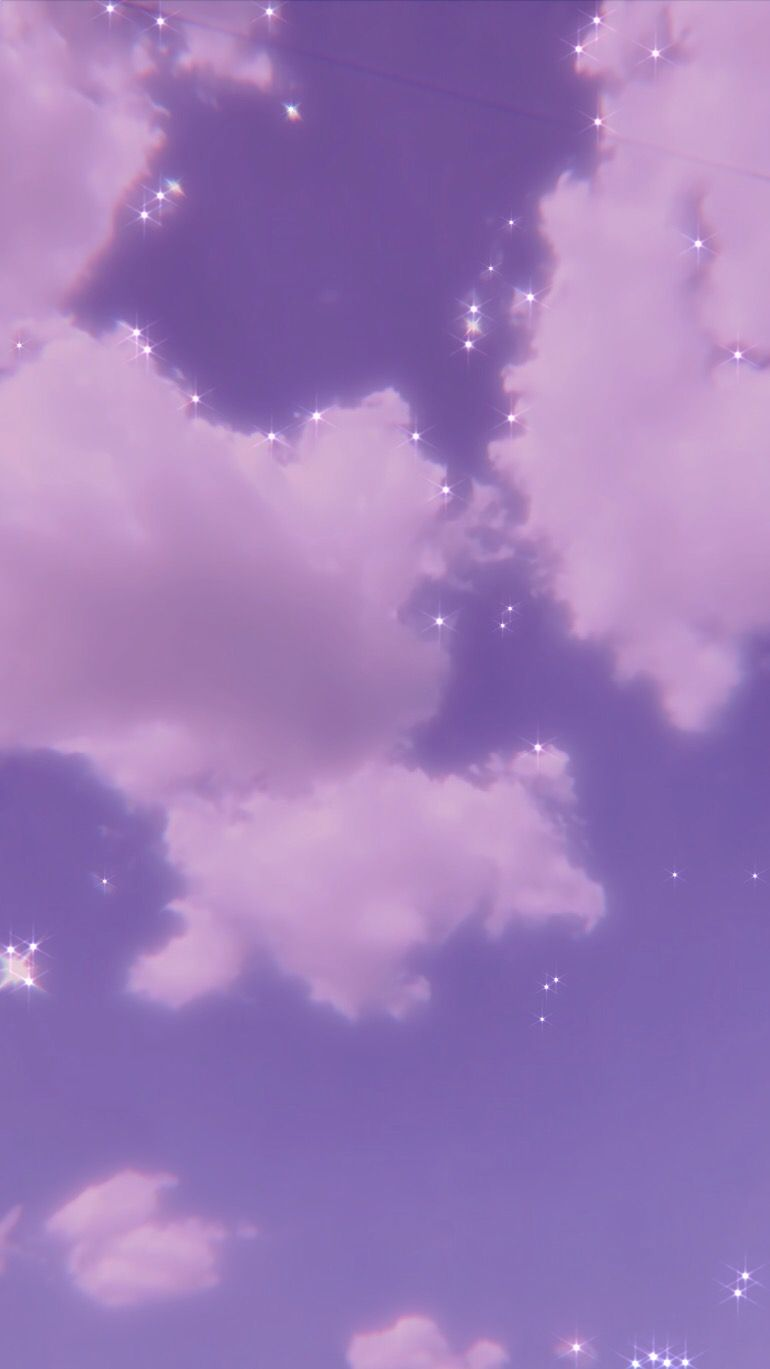 Pin On Cool Glittery Wallpaper Pink Clouds Wallpaper Purple Wallpaper Iphone Cute purple aesthetic wallpaper clouds