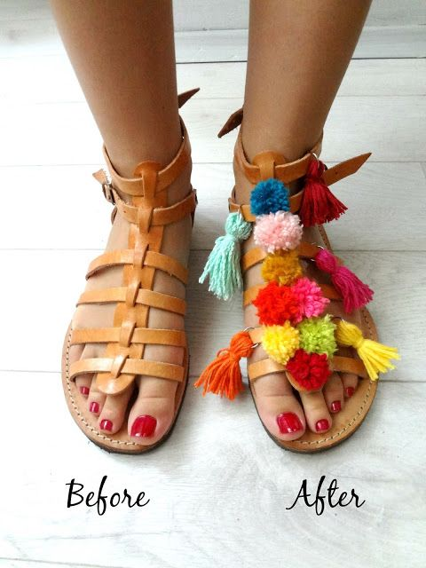 Little Treasures: DIY Idea Decorate Your Spartan Sandals