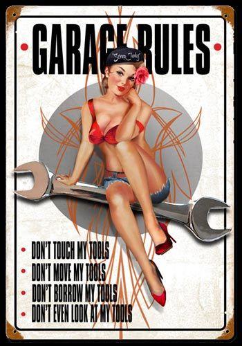pin up garage girl