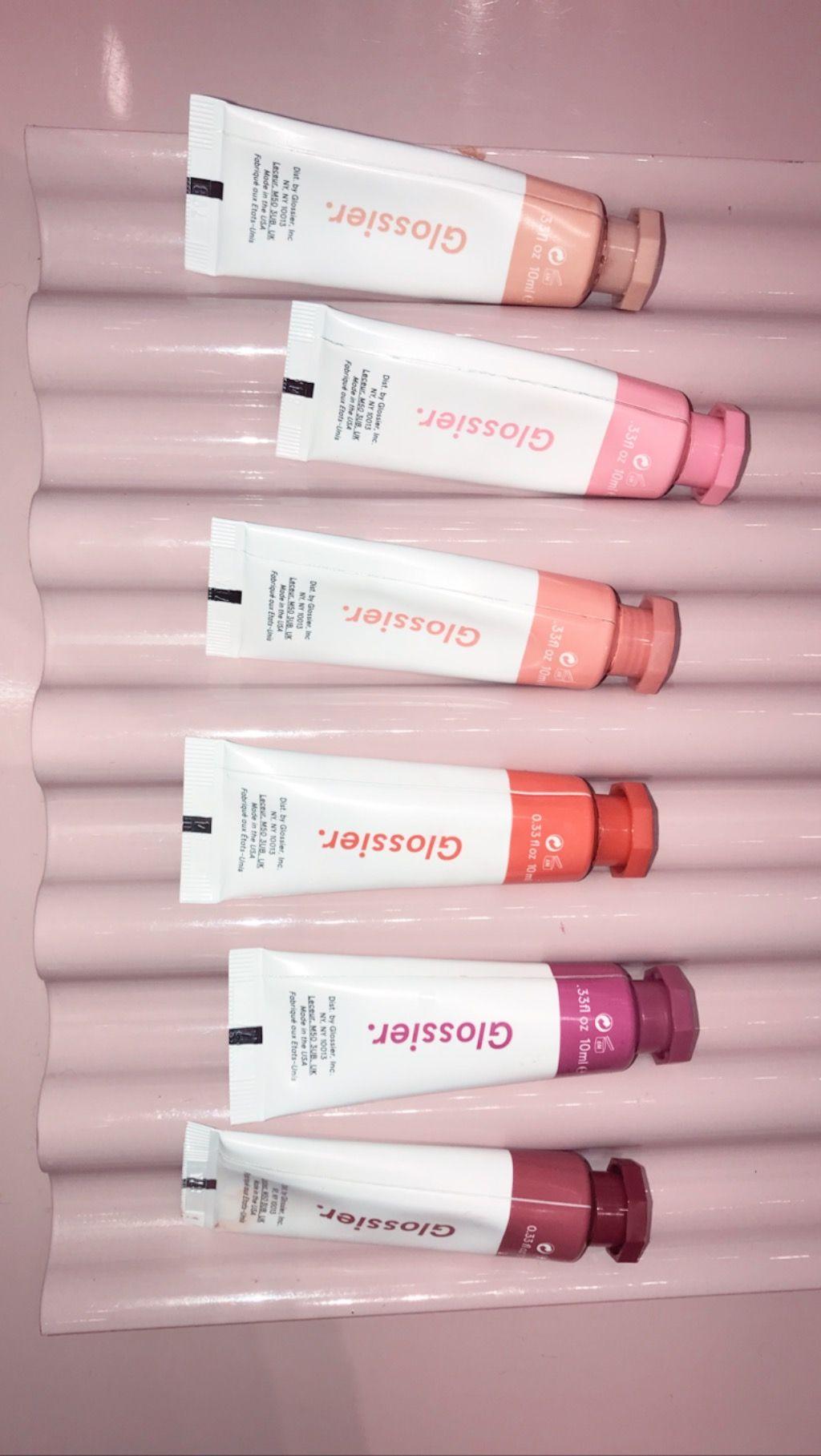 glossier cloud paint blush aesthetic soft pink ombré