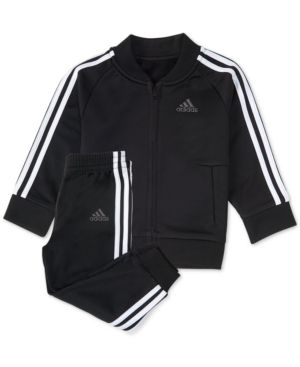 5b92399ae adidas Little Boys 2-Pc. Black Tricot Track Suit - Black 6   Products