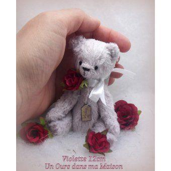 Violette Ours miniature vintage 12cm - unoursdansmamaison.com