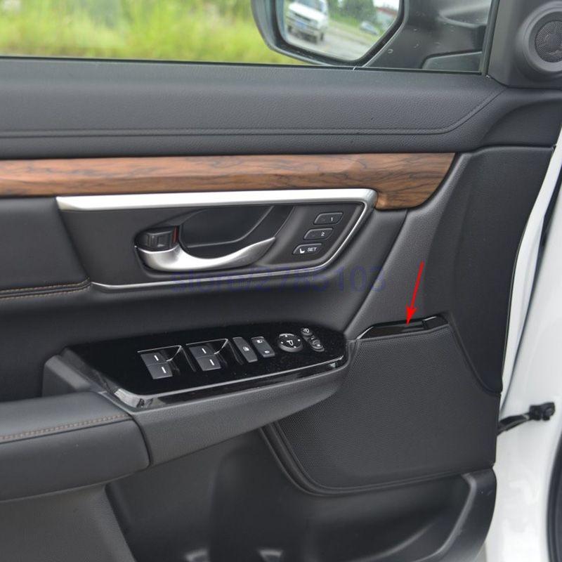 For Honda Crv Cr V 2017 2018 Car Abs Carbon Fiber Paint Interior Inner Door Speaker Stereo Trim 4pcs For Each Door Honda Crv Interior Accessories Red Interiors