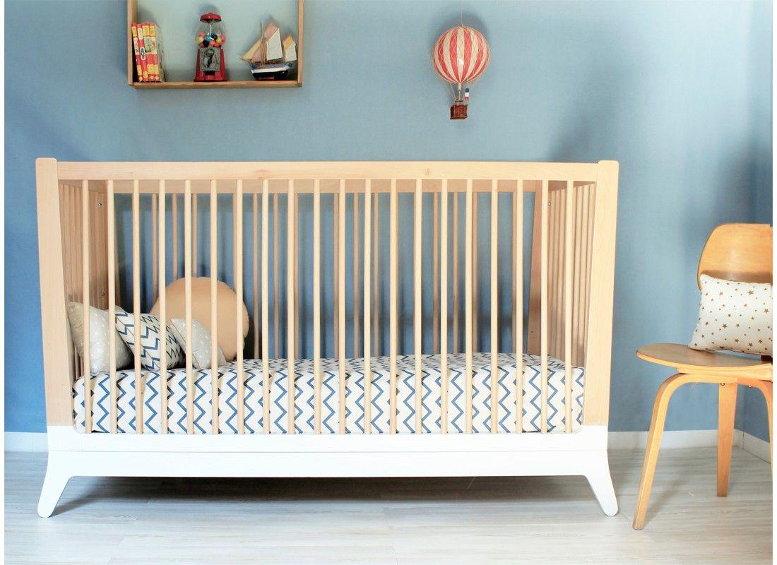 White Wooden Crib By Nobodinoz Furniture Kid Art Design Store Detskaya Krovatka Mebel Dizajn Doma