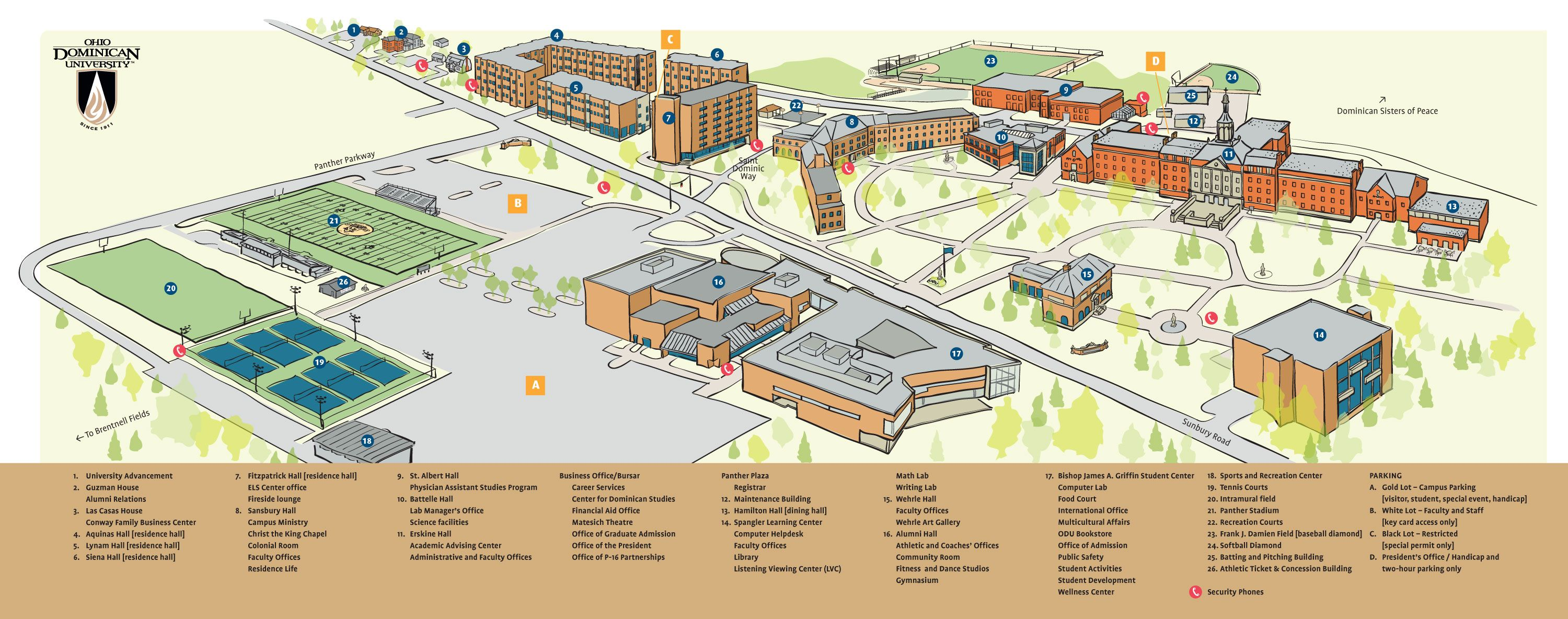 Pin by Ohio Dominican University on Around Campus | Campus ... Scf Denton Campus Map on
