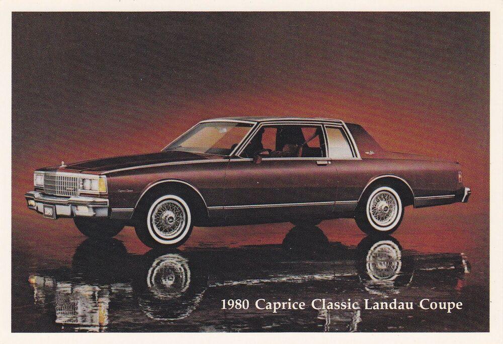 1980 Chevrolet Caprice Classic Landau Coupe Dealer Promo Postcard Chevrolet Caprice Caprice Classic Chevrolet