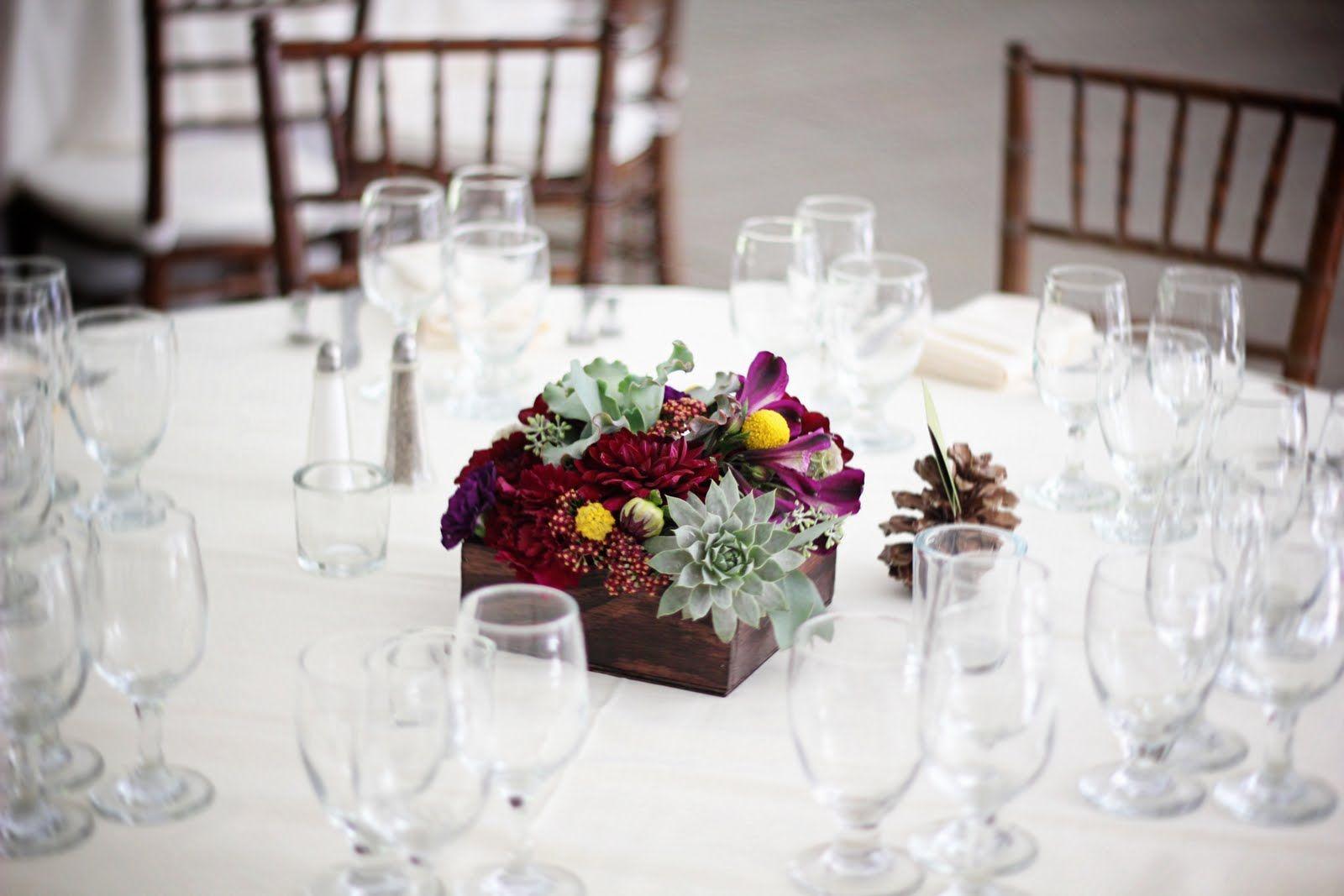 Cigar Box and succulent centerpieces | box rustic ranch wedding ...