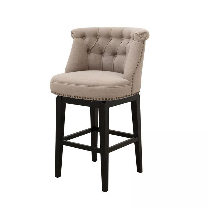 Upholstered Swivel Bar Stools Dramatic Style Upholstered Bar