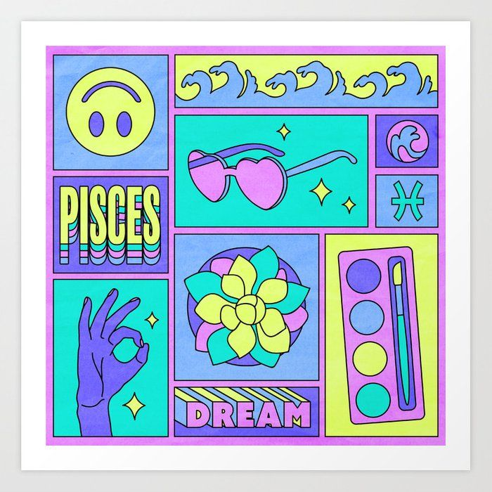 Pisces Art Print by Berlin Michelle - X-Small
