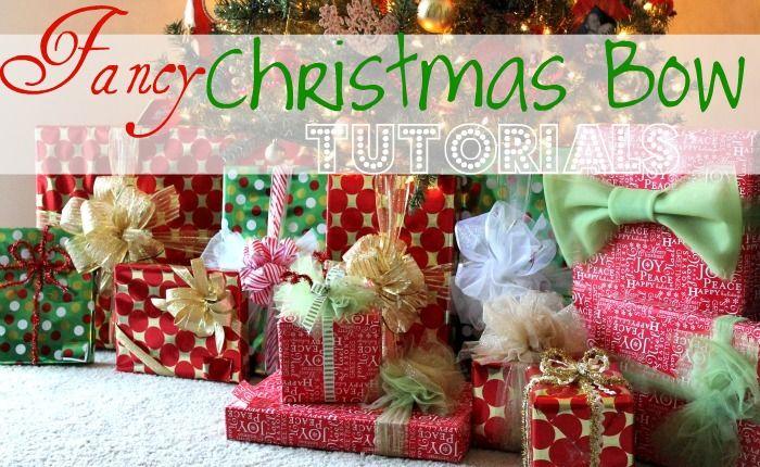 Miss Lovie Fancy Christmas Gift Wrap Bow Tutorials Christmas