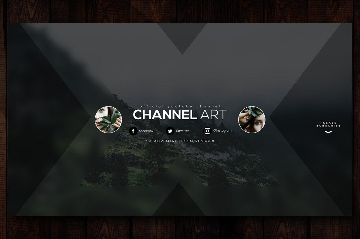 10 Youtube Channel Art Banners Vol 6 Youtube Channel Art Channel Art Youtube Banner Template