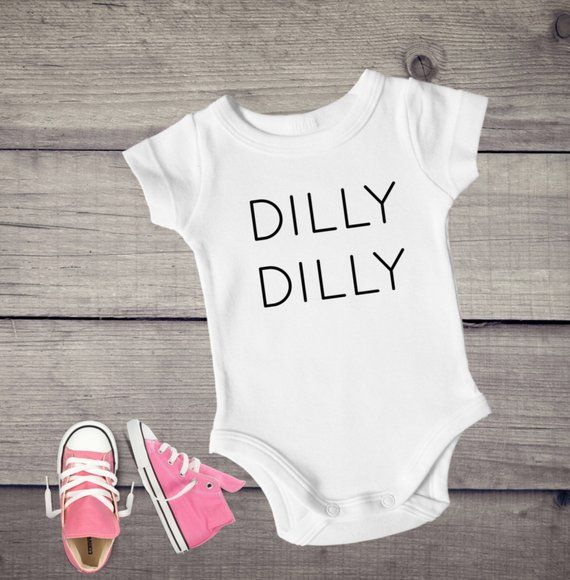 f0f3b7e3b Dilly dilly baby bodysuit baby outfit funny baby clothes | Etsy ...