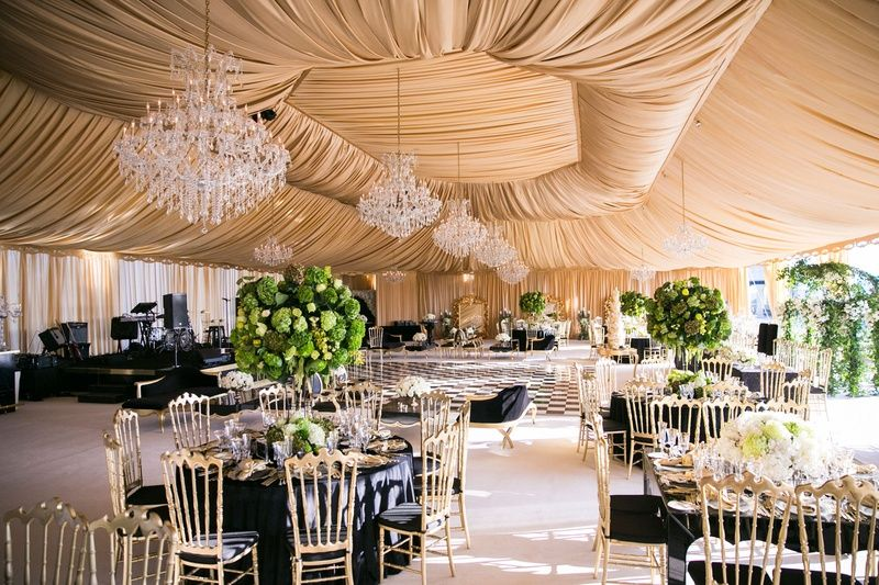 Green Black And Gold Wedding Google Search Tent Reception
