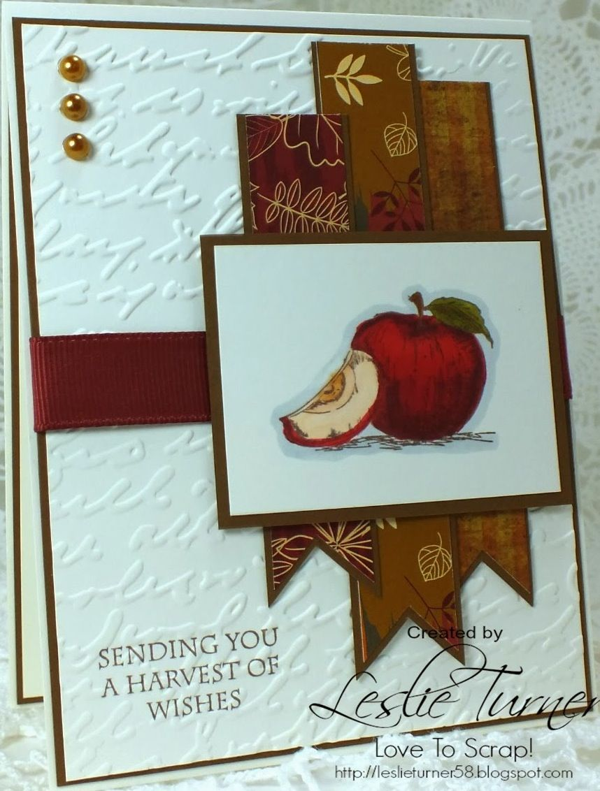 Card made with stamps, paper and ribbon from Gina K Designs.
