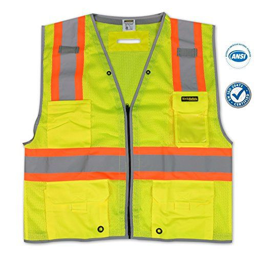 Made Out Of Polyester KwikSafety Premium Economy Vest Is Perfect Under The Sun For Traffic Enforcers Or Construction Workers And Used By Many