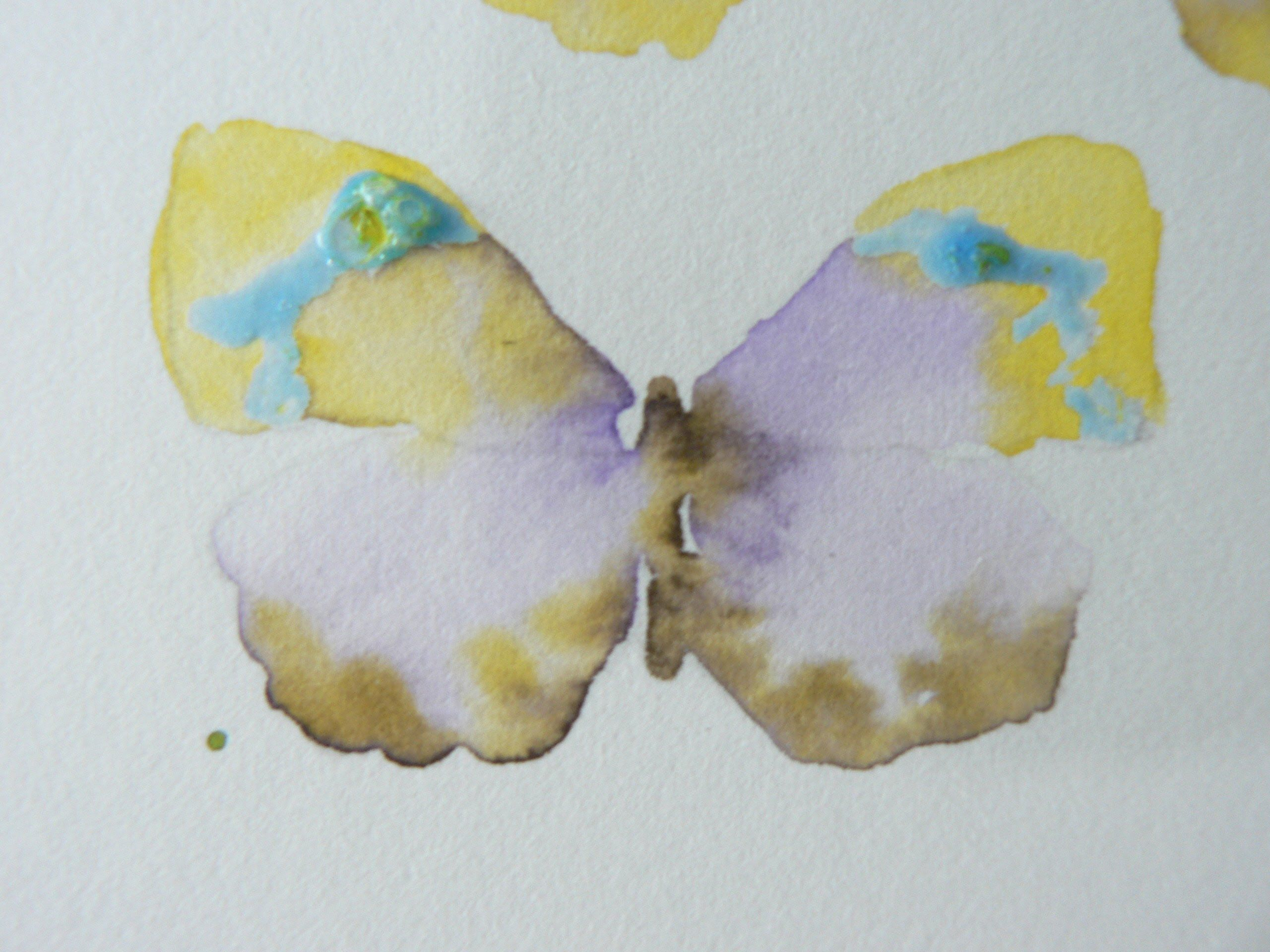 Painting Butterflies In Watercolour