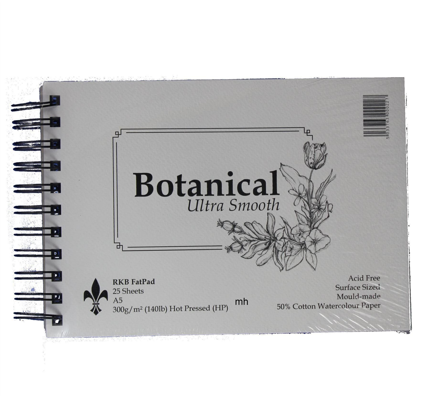 Rkb Botanical Ultra Smooth 50 Cotton Watercolour Paper Pads