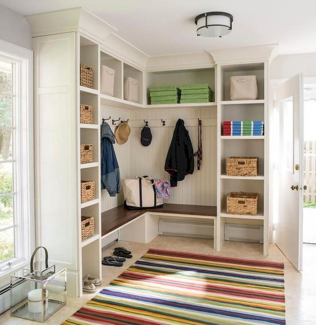 Closet Ideas Mudroom Design: 55 Farmhouse Mudroom Bench Ideas (With Images)