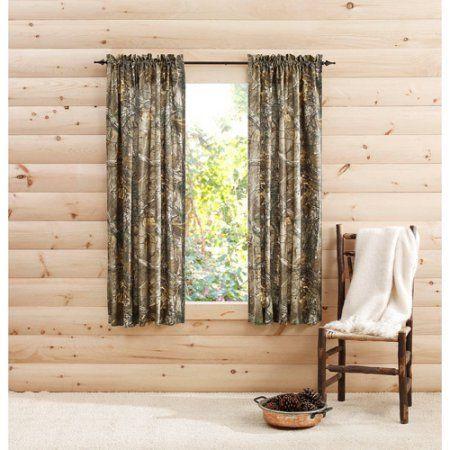 Realtree Xtra Camo Curtain Panels Set Of 2 Rusticcabindecor Camo Curtains Rustic Cabin Decor Panel Curtains