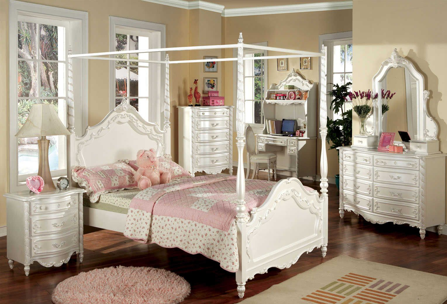 Marvelous Perle De Culture Childrenu0027s Canopy Bed Set