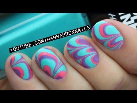 Water Marble Nail Art Tips Tricks Youtube Nail Designs
