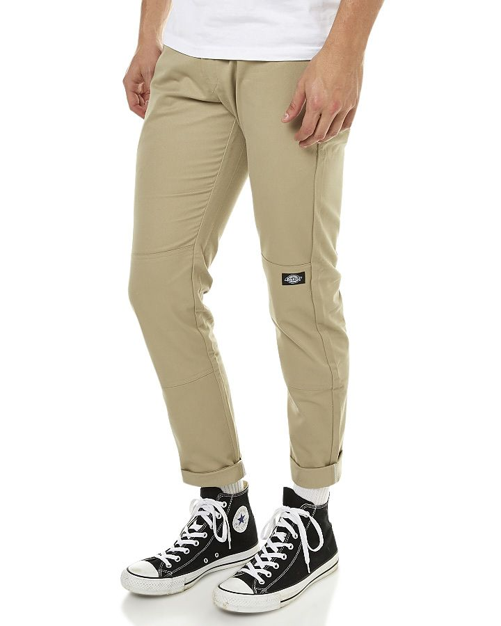 Fashion 4 Men - Dickies Mens Skinny Double Knee Work Straight Fit Pant -  Dessert Sand
