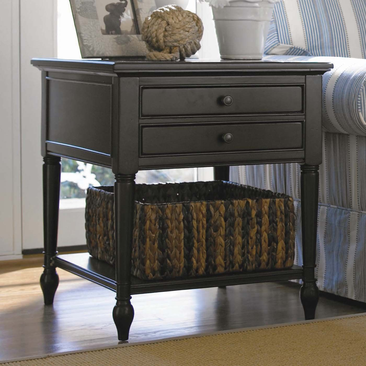 Universal furniture 988802 summer hill end table midnight