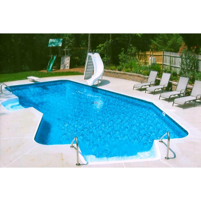 14 X 28 Ft Lazy L 2 Ft Radius Inground Pool Complete Package