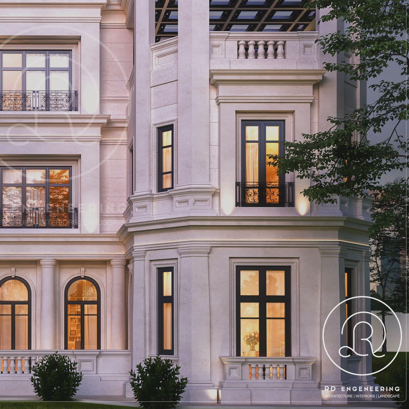 Villa Architecturedesign: #classic # Villa #qatar #architecture # Architecturedesign