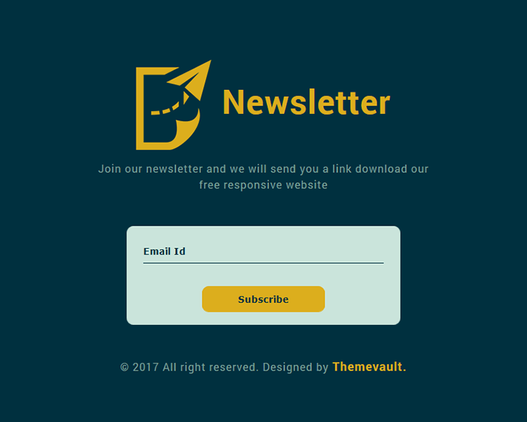 Free html5 responsive widget template for Newsletter