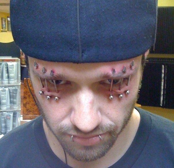 Weird facial piercings